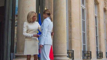 Встреча Елены Зеленской и Бриджит Макрон: стильный образ первой леди Украины