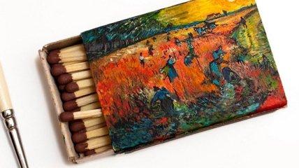Миниатюрные картины Ван Гога на спичечных коробках (Фото)