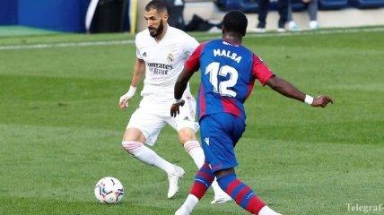 Издевательский гол Бензема помог Реалу обыграть Леванте (видео)