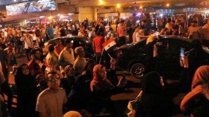 Протесты в Египте: полиция использует слезоточивый газ (Видео)