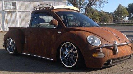 VW New Beetle стал ржавым пикапом