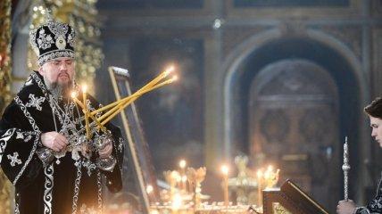 В Свято-Михайловском соборе прошло Пасхальное Богослужение: видео