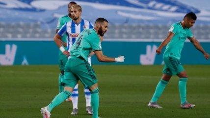 Реал выиграл у Сосьедада и обошел Барселону в Ла Лиге