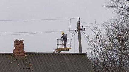 В Гранитном Донецкой области восстановили электроснабжение