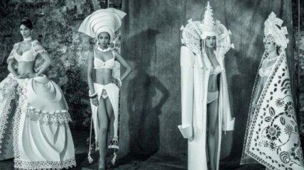 Оригинальные платья, аксессуары и скульптуры из бумаги (Фото)