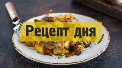 Рецепт дня: Жаркое из картофеля с мясом и грибами