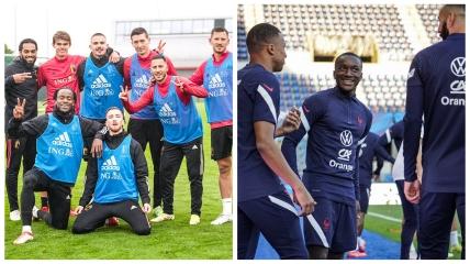Бельгия - Франция: тренировки команд