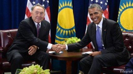 Обама встретился с Назарбаевым
