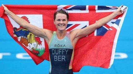 """Триатлонистка из Бермудских островов выиграла первое """"золото"""" для своей страны в истории Олимпиад"""