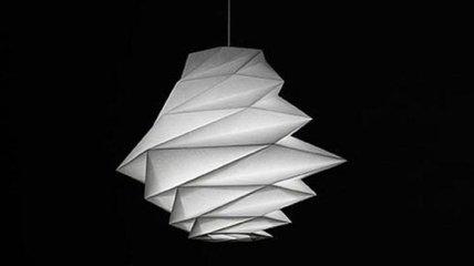 Необычные и яркие светильники в технике оригами