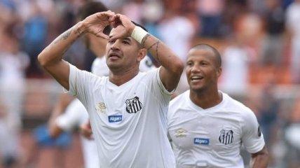 Дерлис принес очередную победу Сантосу (Видео)