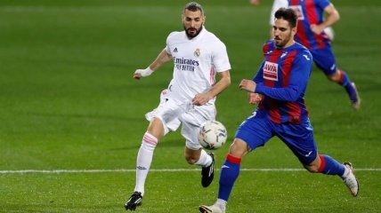 Реал со скандалом обыграл Эйбар, забив два ранних гола (видео)