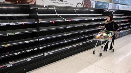 Торговые сети Великобритании страдают из-за сбоев в поставках продуктов