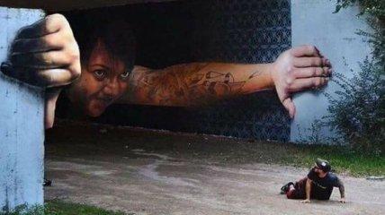 Огромные 3D рисунки от уличных художников (Фото)