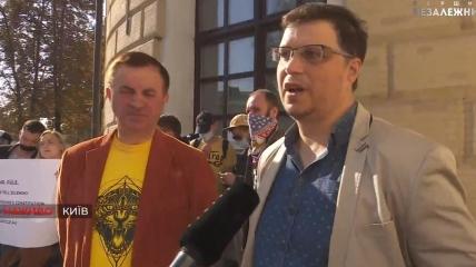 Работники закрытых телеканалов вышли на акцию протеста