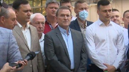 Брифинг Виктора Медведчука перед заседанием Киевского апелляционного суда