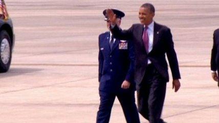 Президент США прибыл в Шарлотт (Видео)