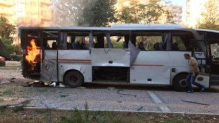 В турецком Мерсине взорвали автобус с полицейскими