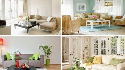 Гениальные идеи эффектного, но недорогого дизайна гостиной (Фото)
