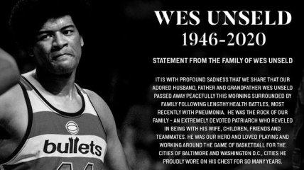 Умер легендарный баскетболист НБА Уэс Анселд