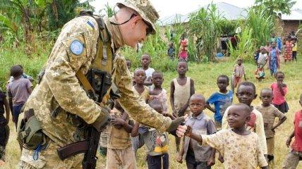 Во Львове прошла ротация украинских миротворцев в Демократической Республике Конго