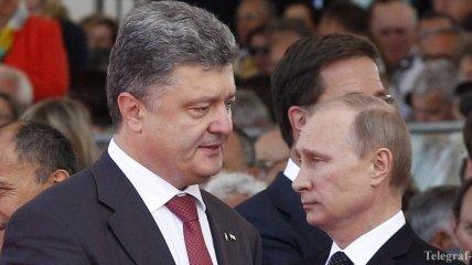 Песков: Порошенко обсудил с Путиным ситуацию на востоке Украины