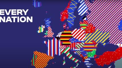 УЕФА изобразил карту с украинским Крымом