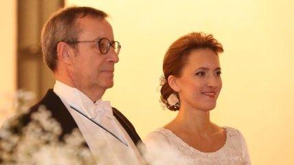 Президент Эстонии обвенчался с сотрудницей минобороны Латвии