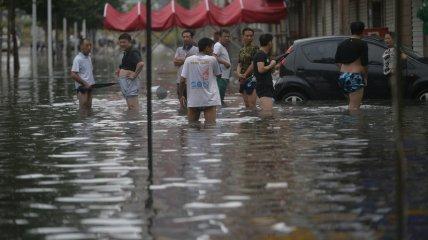 На северо-западе Китая опять наводнение