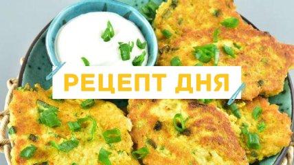 Рецепт дня: Овсяные оладьи с зеленым луком