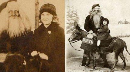Злой и страшный ... Дед Мороз: жутковато-юморные фото встречи детей с посланником ада?