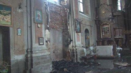 Во Львовской области горела церковь 17 века