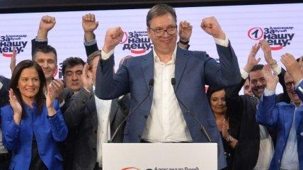 Правящая партия Сербии победила на парламентских выборах
