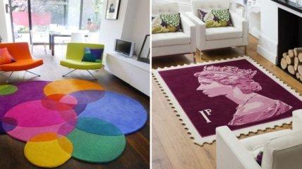 Оригинальные ковровые покрытия: способы создать уют в доме (Фото)