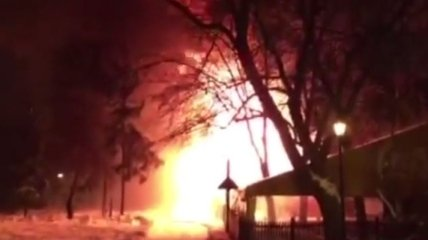 В центре Харькова горело кафе (Видео)