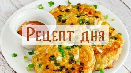 Рецепт дня: Оладьи из овсяных хлопьев с вареными яйцами и зеленым луком
