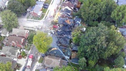 В Канаде от взрыва целый дом взлетел на воздух: горит весь квартал