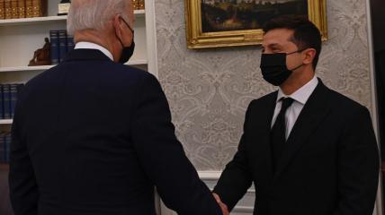 Владимир Зеленский и Джо Байден в Белом доме 01.09.2021