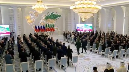 Кадр из видео с инаугурации Кадырова.
