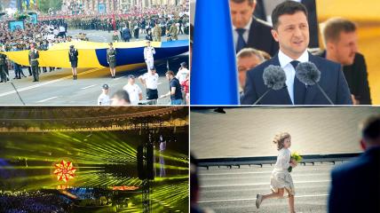 30-й День независимости Украины ознаменовался мощным парадом, трогательной речью президента, фильмом и праздничным концертом на стадионе