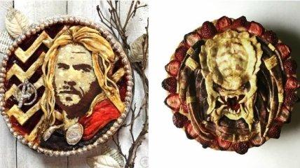 Поп-культура в пирогах: портреты знаменитых персонажей на хрустящей корочке (Фото)