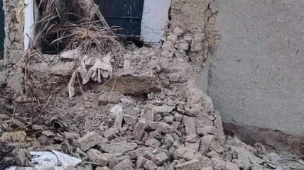 Землетрясение разрушило часть домов в Харнае.