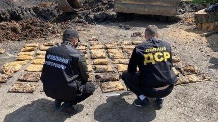 В Лисичанске нашли схрон боевиков с 210 кг взрывчатки
