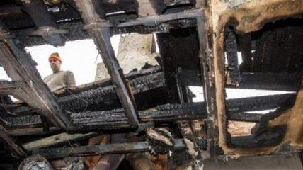 Избирательный участок сгорел в Польше