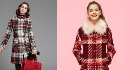 Мода 2018: стильные пальто в клетку для настоящих модниц (Фото)