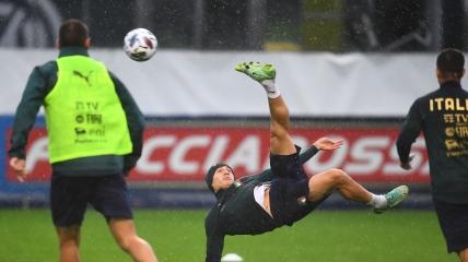 Тренировка сборной Италии перед матчем с Испанией