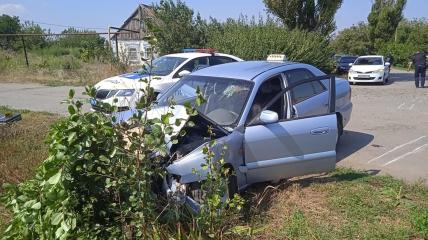 Водителя на большой скорости остановить смогло только дерево.
