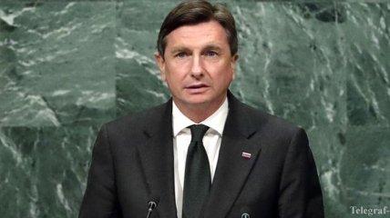 Президент Словении посетит Украину