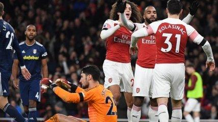 Арсенал разгромил Фулхэм в лондонском дерби в АПЛ