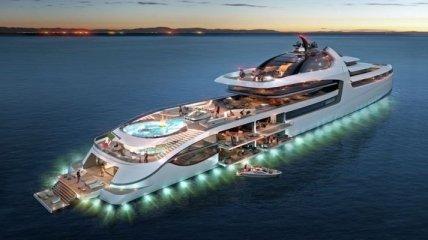 Супер-яхта, которую называют настоящим плавучим дворцом (Фото)